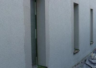 Fassadenarmierung in einem Durchfahtsbereich