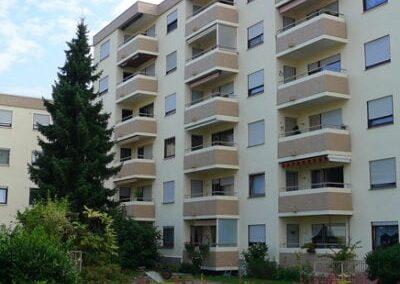 Fassadenbeschichtung zweier Mehrfamilienhäuser
