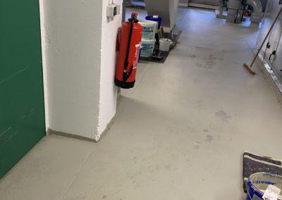 Bodenbeschichtung eines Hallenbodens